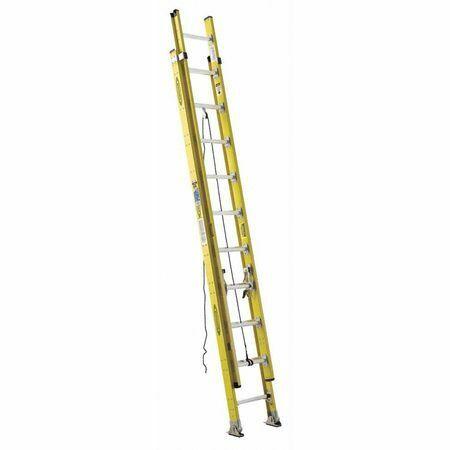 Werner 7120-2 20 Ft Fiberglass Extension Ladder, 375 Lb Load Capacity