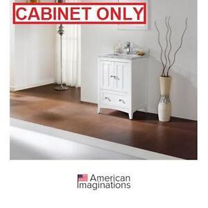 "NEW AI 22.75"" SHAKER VANITY CABINET AMERICAN IMAGINATIONS WHITE CABINETS - BATH BATHROOM FURNITURE DECOR VANITIES"