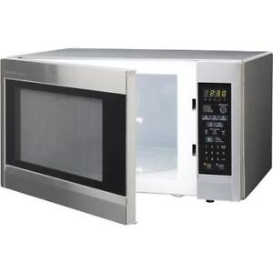 microwave-1.8CU-sharp stainless steel-inbox-with-WARRANTY-$89.99