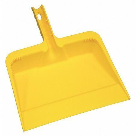 Tough Guy 48Lz18 Hand Held Dust Pan,Yellow,Polyethylene