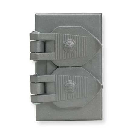 Hubbell Wiring Device-Kellems Hbl5206wo 1 -Gang Horizontal Weatherproof Cover,