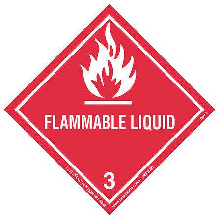 LABELMASTER HMSL60 Flammable Liquid Label,100mmx100mm,500