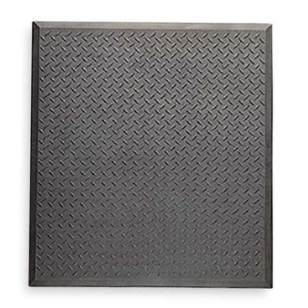 "NOTRAX 545S2831BL Antifatigue Mat,Black,2ft. 4"" x 2ft. 7"""