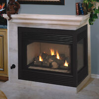 2 sided propane fireplace in great condition