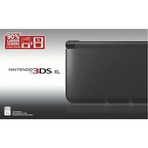 great condition black 3DS XL with orange nerf case