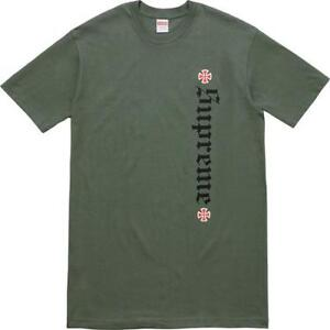 SOLD Supreme x Independent tee olive sz.M SOLD