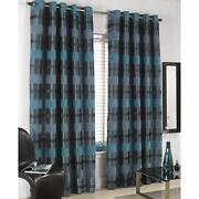 Heavy Teal Curtains