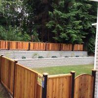Cedar fence installation !!