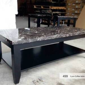 Brand New Black Coffee Table and 2 End Table