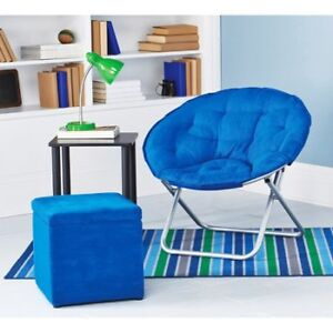 BLUE SAUCER CHAIR - LIKE NEW CONDITION