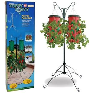 Topsy Turvy  Patio Pole Planter Stand