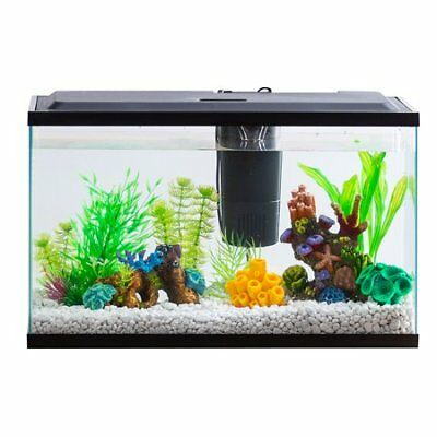 Aqua Culture Aquarium Starter Kit With LED, 10 Gallons New