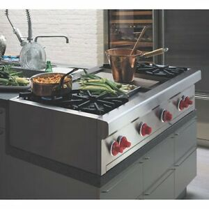 Wolf Gas Pro Style Rangetop and Cabinet