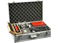 AVANTONE CV 28 TUBE MICROPHONE + HARDCASE, MIC BOX, XLR, AND CRADLE