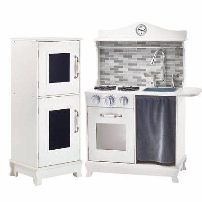 Teamson Kids - Sunday Brunch Wooden Play Kitchen - White W