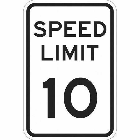 "Lyle T1-1010-Hi_12X18 Traffic Sign,18""H,12""W,Aluminum"