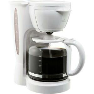 Coffee Maker - 12 Cup with Permanent Filter - White BRAND NEW