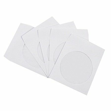 3000 PREMIUM CD DVD  White OR  Paper Sleeve with Clear Window and Flap Envelope