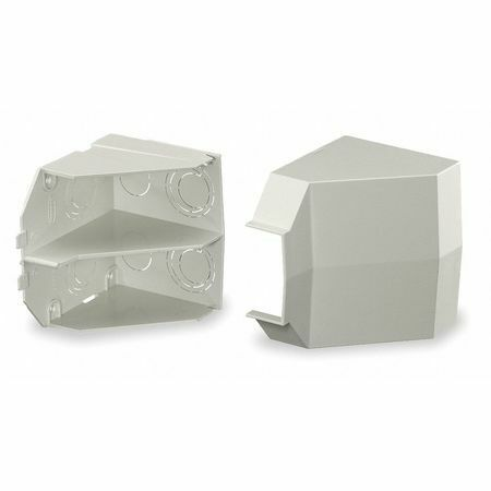 Hubbell Wiring Device-Kellems Pw2cacf Ceiling Adapter,White,Pvc,Wall-Trak