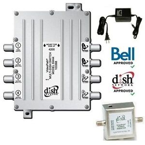 SW44 Switch for Bell Satellite TV Dish--NEW