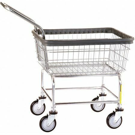 R&B Wire Products Inc. 100Ceclch Wire Laundry Cart,600 Lb. Ld Cap.,Silver