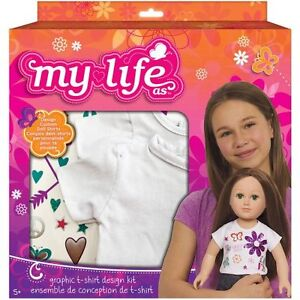 """NEW: My Life As Graphic Tee Kit (For 18"""" Doll)"""