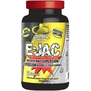 Goliath Labs E-JAC (formerly Ejaculoid) 60 capsules - SURPRISE YOUR PARTNER!!! SURPREND TA PARTENAIRE!!!