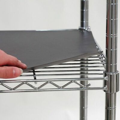 5GRJ4 Shelf Liner, 48 x 18 in., Black, PK4