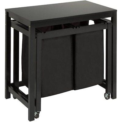 Honey Can Do Double Laundry Sorter with Folding Table, Wo (Sorter Folding)