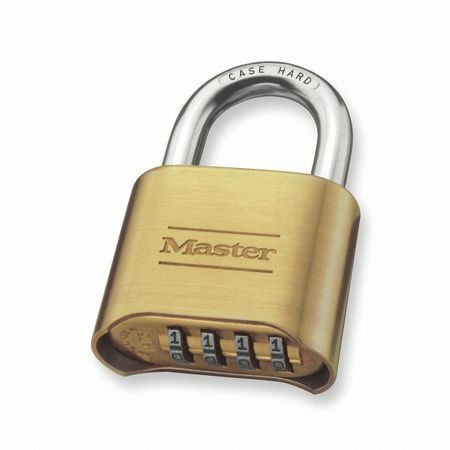 "Master Lock 175 2"" Brass Resettable Combination Padlock"