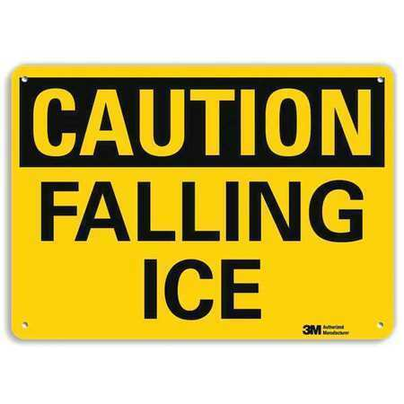 Lyle U4-1301-Ra_14X10 Safety Sign,Falling Ice,10In.H