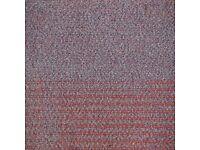 400 Red Purple Carpet Tiles. READ DESCRIPTION.