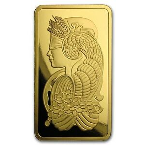 5 oz Lingotin d'Or Pur Lady Fortuna Gold PAMP Suisse Bar .9999