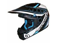 SIXSIXONE 661 Fenix Grid Motocross Helmet. Adult Small 55-56cm Black/Blue Brand New in Box