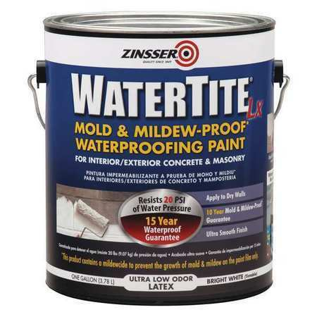 Zinsser 270267 1 Gal. Mold And Mildew-Proof White Water Based Waterproofing