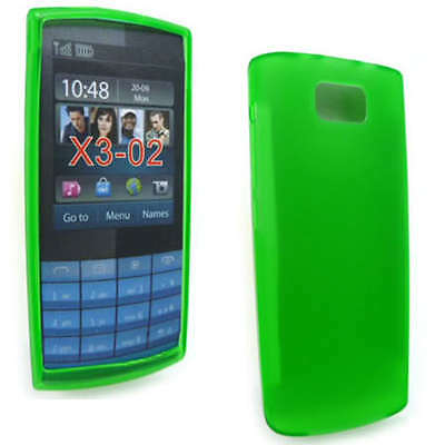 Green Jelly Case Cover Gel Skin for Nokia X3-02 X3 + SP ()