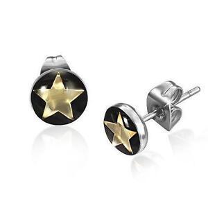 Small Monster Mens Women Boys Stud Earrings, Crystal Earrings Stainless Steel Earrings 2Pieces Punk Rock