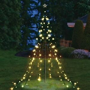 lichterkette pyramide 200 led lichterkette beleuchtung weihnachtsbeleuchtung ebay. Black Bedroom Furniture Sets. Home Design Ideas