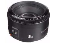 Canon ef 50mm Lense