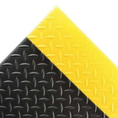NOTRAX 419S0036BY Black/Yellow Antifatigue Mat 3 ft W x 6 ft L, 1/2 in, PVC Foam