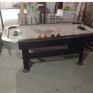 Full size air hockey table