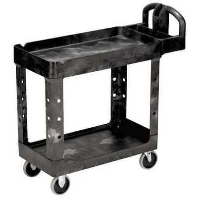 Rubbermaid Fg450088bla Structural Foam Utility Cart With Deep Lipped Plastic