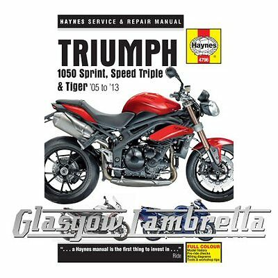 Haynes Service & Repair Manual 4796 Triumph 1050 Sprint ST, Speed Triple & Tiger