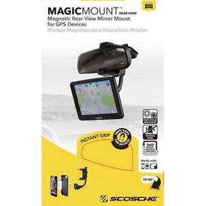 Magnetic Rear View Mirror Mount for phone and GPS Device