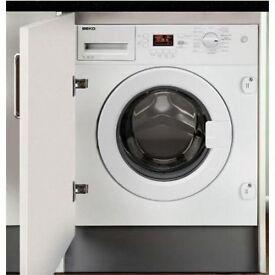 Beko WMI71641 7kg 1600rpm A+ Integrated Washing Machine - White WMI71641