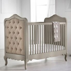 Luxury French style buttoned cot bed RRP £1195