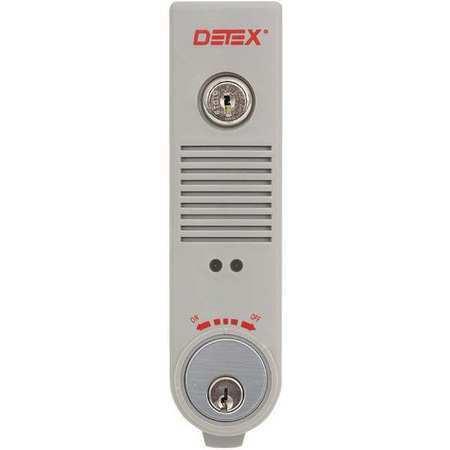 Detex Eax-500 Gray W-Cyl Exit Door Alarm,9V Battery,Plastic,100Db