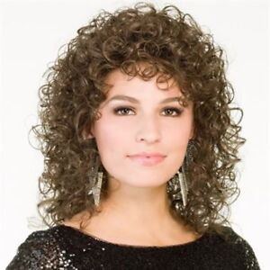 BRAND NEW TAGS ON SIZE AVERAGE LONG CURLY WIG COLOR 4 DARK BROWN