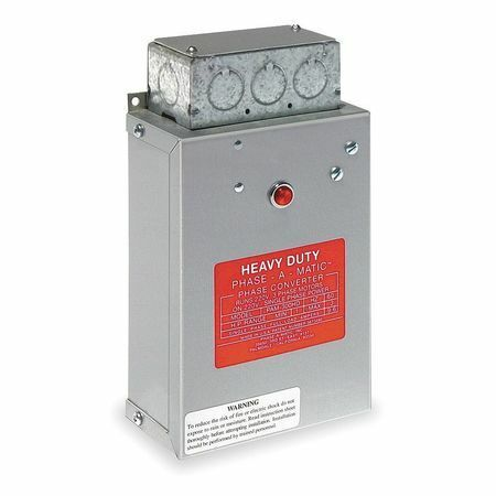 Phase-A-Matic Pam-300Hd 1-3 Hp Phase Converter, Static
