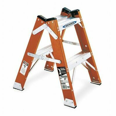 Werner T6202 3 Steps Fiberglass Step Stool 300 Lb. Load Capacity